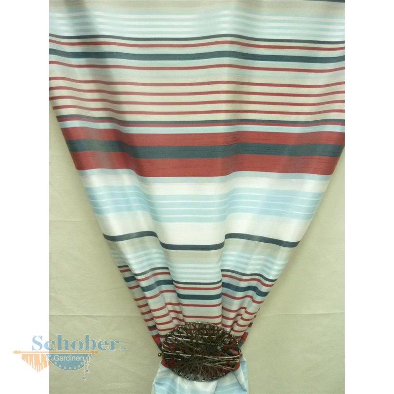 deko stoff gardine vorhang gestreift wei blau grau rot. Black Bedroom Furniture Sets. Home Design Ideas