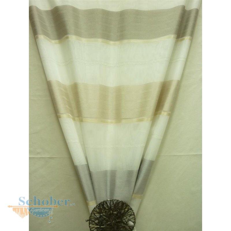 deko stoff gardine vorhang wei braun beige gestreift. Black Bedroom Furniture Sets. Home Design Ideas