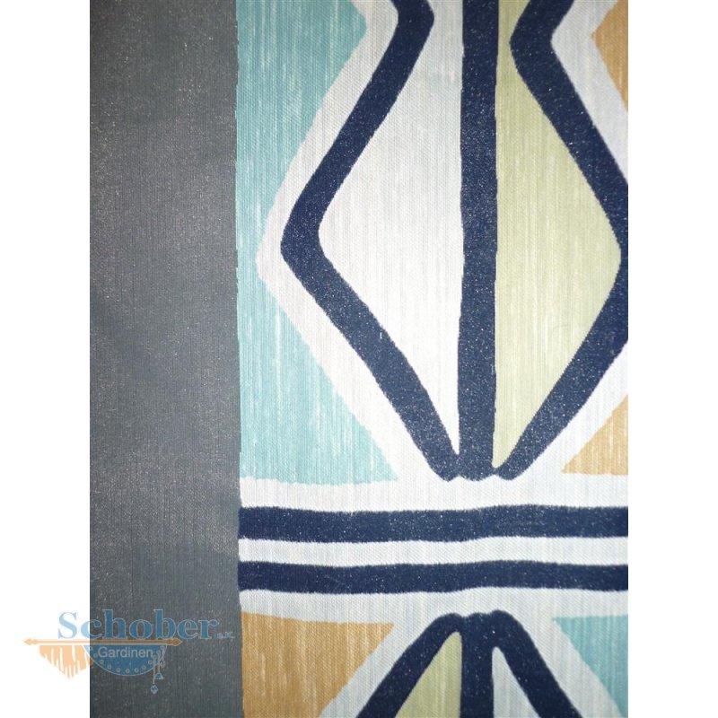 stores gardine stoff vorhang raute wei blau gr n gelb tra. Black Bedroom Furniture Sets. Home Design Ideas