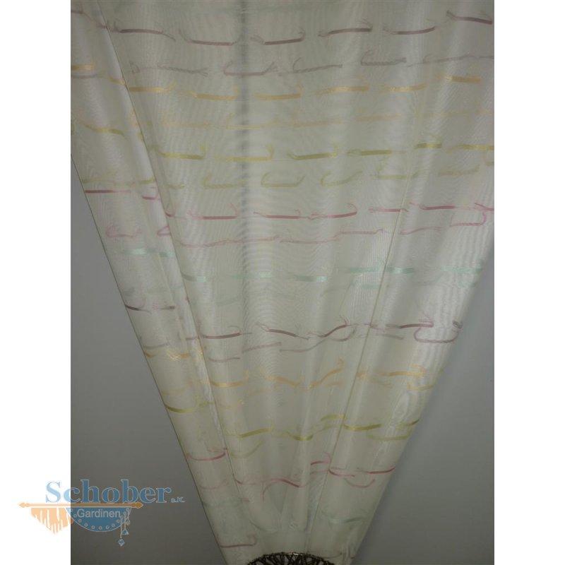 deko stoff vorhang sherley querstreifen wei bunt transparent. Black Bedroom Furniture Sets. Home Design Ideas