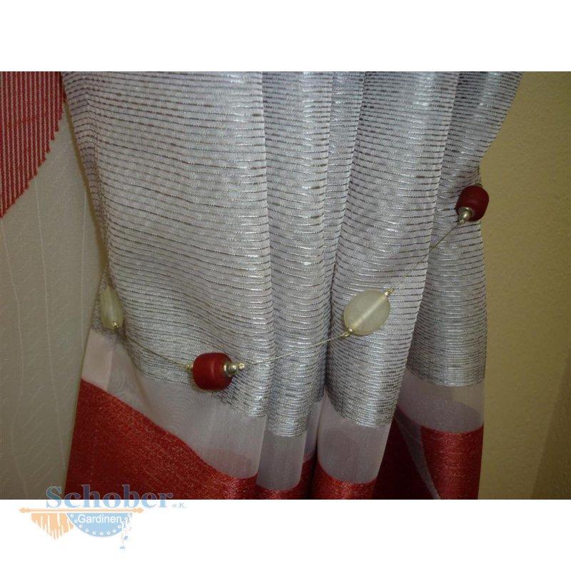 raffhalter kette mit glas steinen rot transp auf draht. Black Bedroom Furniture Sets. Home Design Ideas