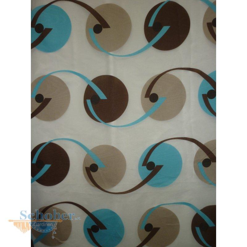 Stores gardine stoff vorhang ausbrenner kreise retro wei t uum - Gardine kreise ...