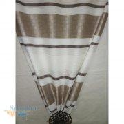 Deko stoff gardine vorhang querstreifen wei orange grau transp - Gardine kreise ...