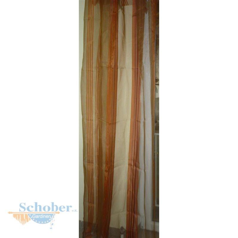 deko schal gardine vorhang l ngsstreifen gold rost transparent. Black Bedroom Furniture Sets. Home Design Ideas