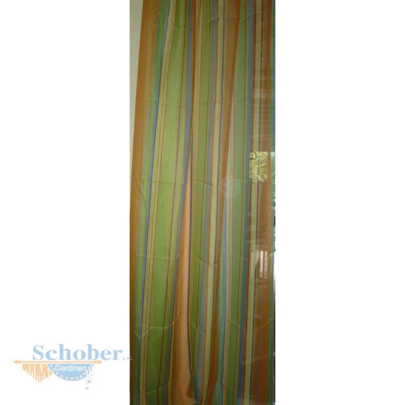 deko schal vorhang gardine l ngsstreifen gelb orange gr n t. Black Bedroom Furniture Sets. Home Design Ideas
