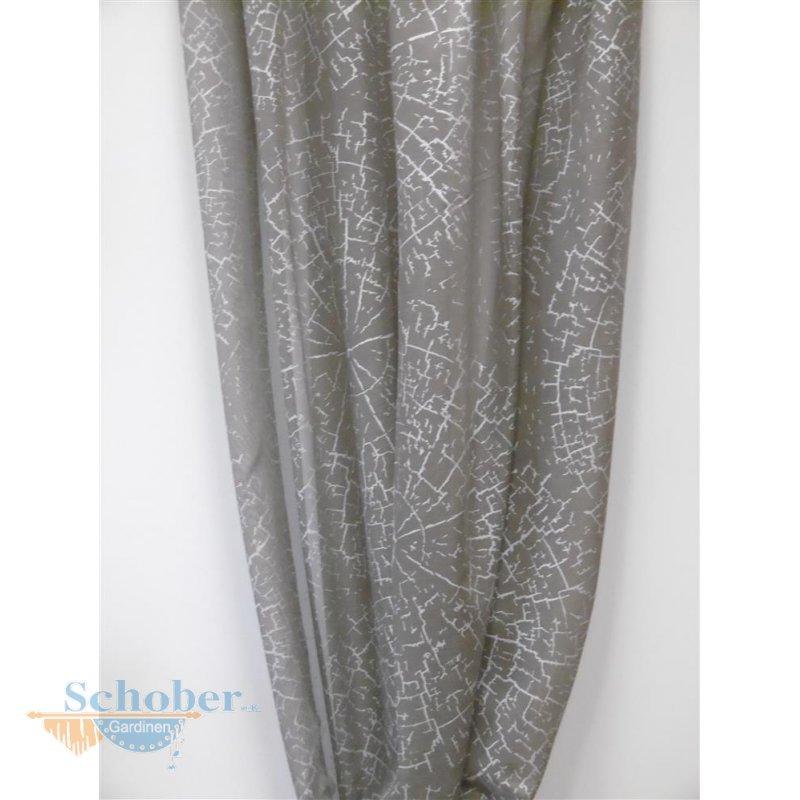 Deko stoff gardine vorhang kreise schlamm silber transparent meterwa - Gardine kreise ...