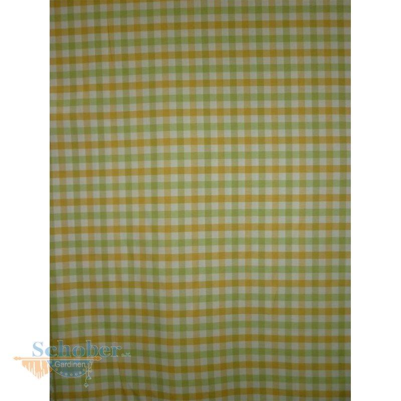 deko stoff gardine vorhang landhaus karo creme gelb gr n blickdi. Black Bedroom Furniture Sets. Home Design Ideas