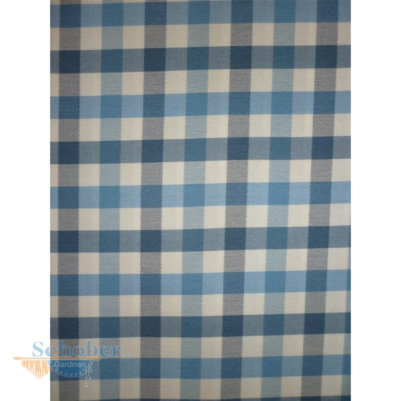 deko stoff gardine vorhang landhaus karo wei blau blickdicht. Black Bedroom Furniture Sets. Home Design Ideas