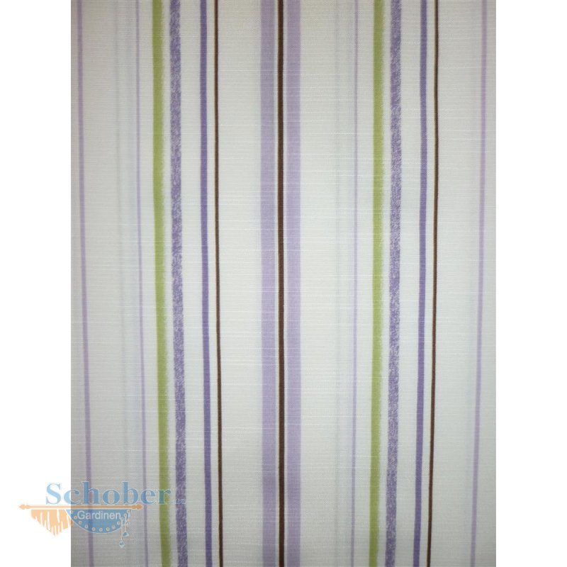 deko stoff gardine vorhang landhaus streifen natur lila gr n bli. Black Bedroom Furniture Sets. Home Design Ideas