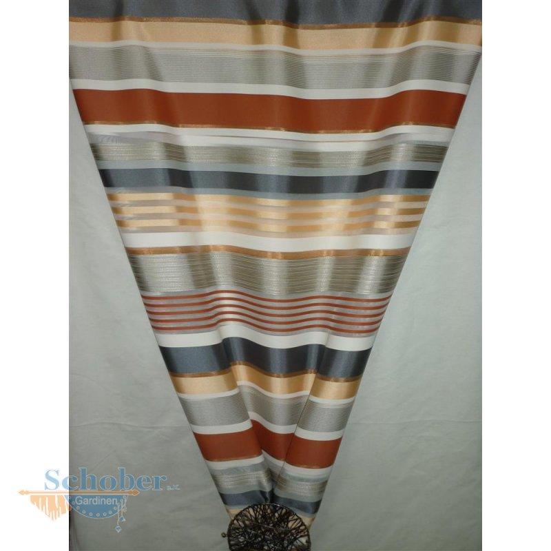 deko stoff gardine vorhang streifen wei orange grau transparen. Black Bedroom Furniture Sets. Home Design Ideas