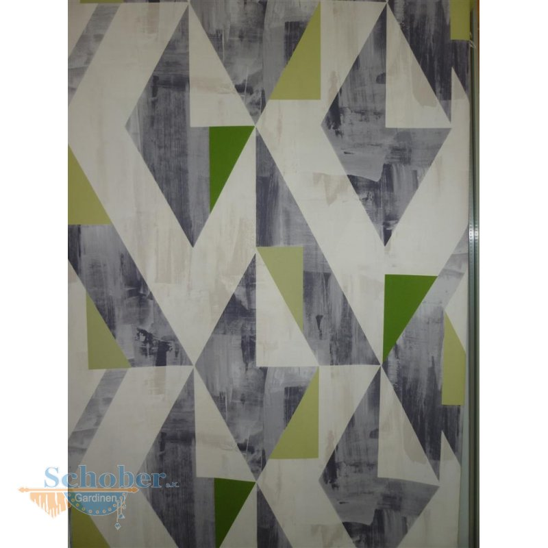 deko stoff gardine vorhang rauten ecken creme gr n grau blickdi. Black Bedroom Furniture Sets. Home Design Ideas