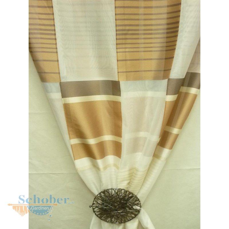 deko stoff gardine vorhang sherley k stchen creme beige. Black Bedroom Furniture Sets. Home Design Ideas