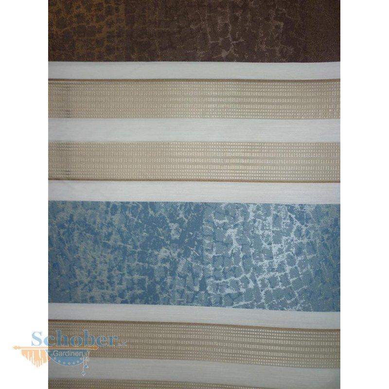 deko stoff gardine vorhang streifen creme beige blau braun teiltransp. Black Bedroom Furniture Sets. Home Design Ideas
