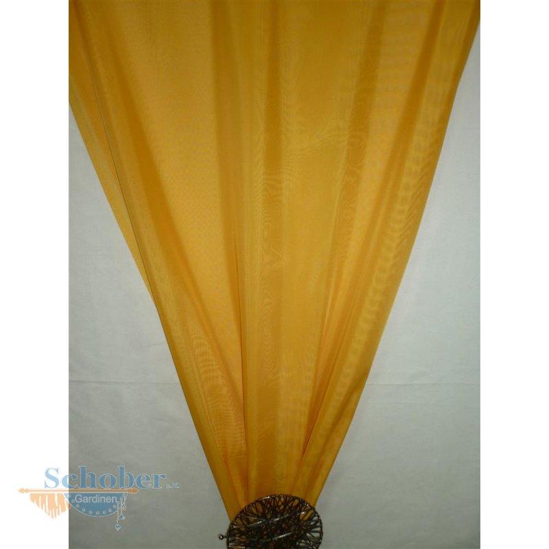 deko stoff gardine vorhang voile gelb uni transparent. Black Bedroom Furniture Sets. Home Design Ideas