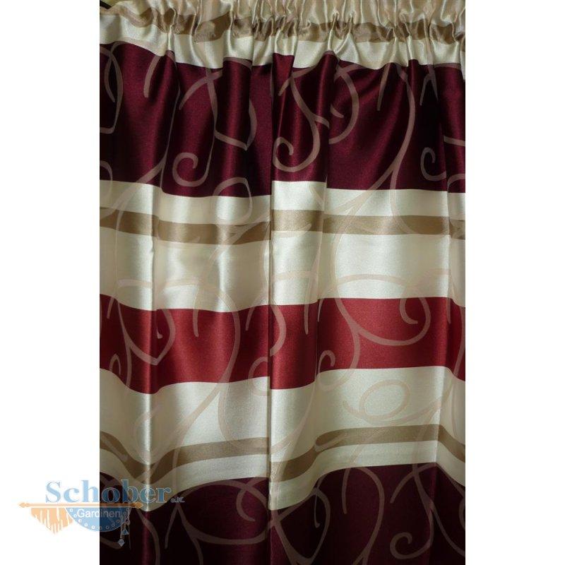 dekoschal m gardinenband streifen ranken rot creme blickdicht h. Black Bedroom Furniture Sets. Home Design Ideas