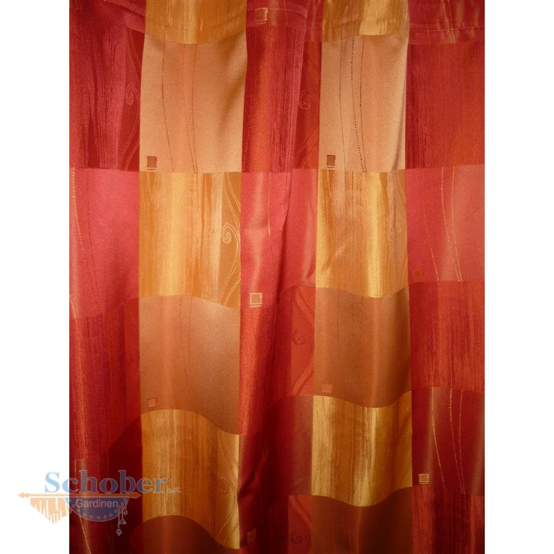 dekoschals gardinenband 2 st ck rot orange k stchen blickdi. Black Bedroom Furniture Sets. Home Design Ideas