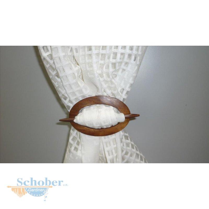 dekospange raffhalter schalspange oval aus massiv holz mini braun 5. Black Bedroom Furniture Sets. Home Design Ideas