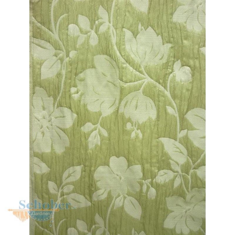 dekostoff gardine vorhang blumenranken knitter crashoptik gr n. Black Bedroom Furniture Sets. Home Design Ideas