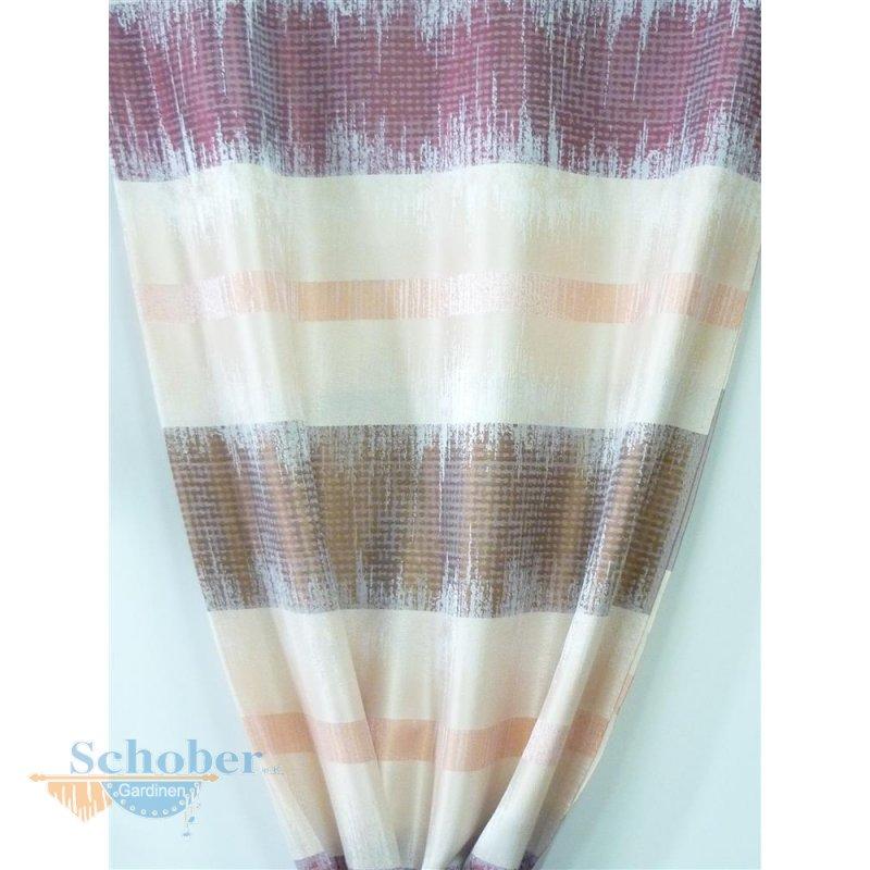 dekostoff gardine vorhang streifen rot beige braun. Black Bedroom Furniture Sets. Home Design Ideas