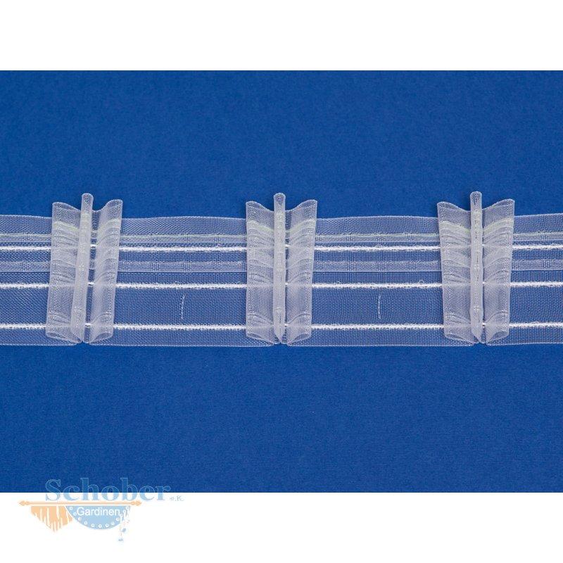 faltenband gardinenband reihband breit wei transparent meterw. Black Bedroom Furniture Sets. Home Design Ideas