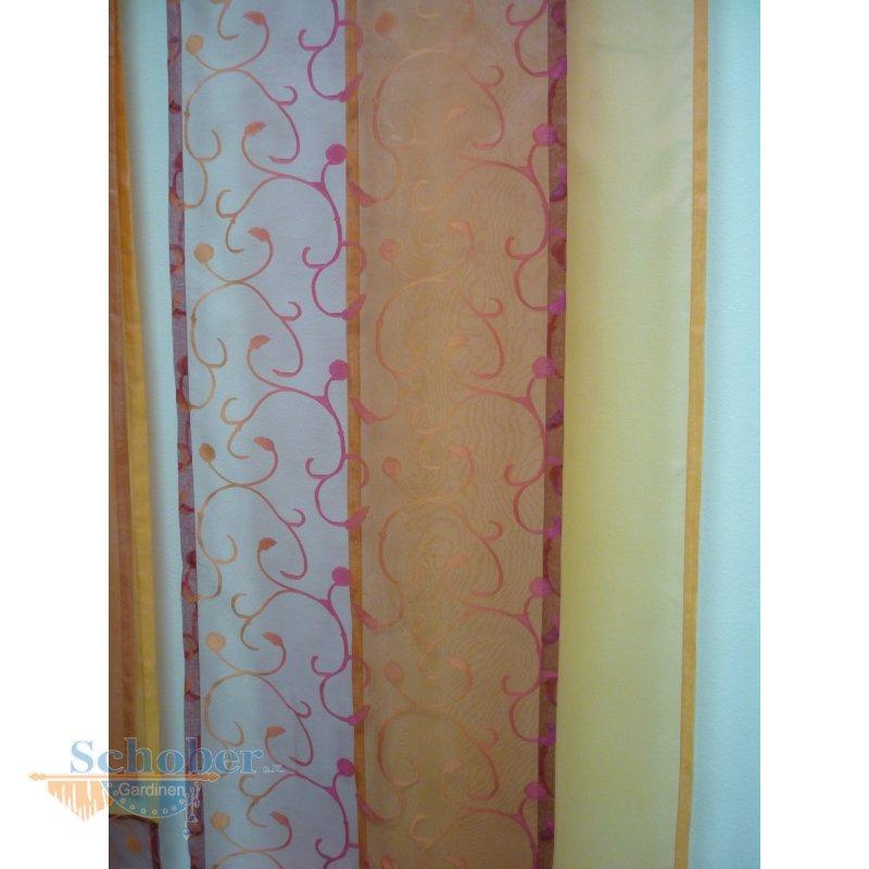 gardinen deko gardinen rot orange gardinen dekoration. Black Bedroom Furniture Sets. Home Design Ideas