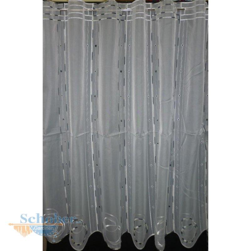pannaux stoff vorhang scheibengardine kreis wei gr n h 12. Black Bedroom Furniture Sets. Home Design Ideas
