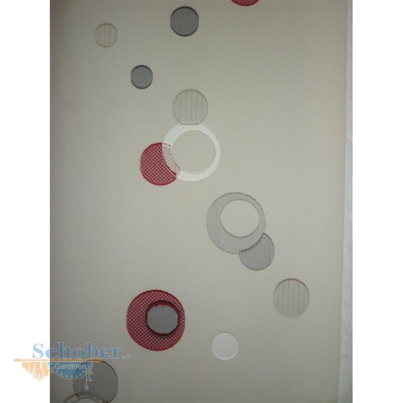 stores gardine stoff vorhang kreis natur anthrazit beige rot transpar. Black Bedroom Furniture Sets. Home Design Ideas