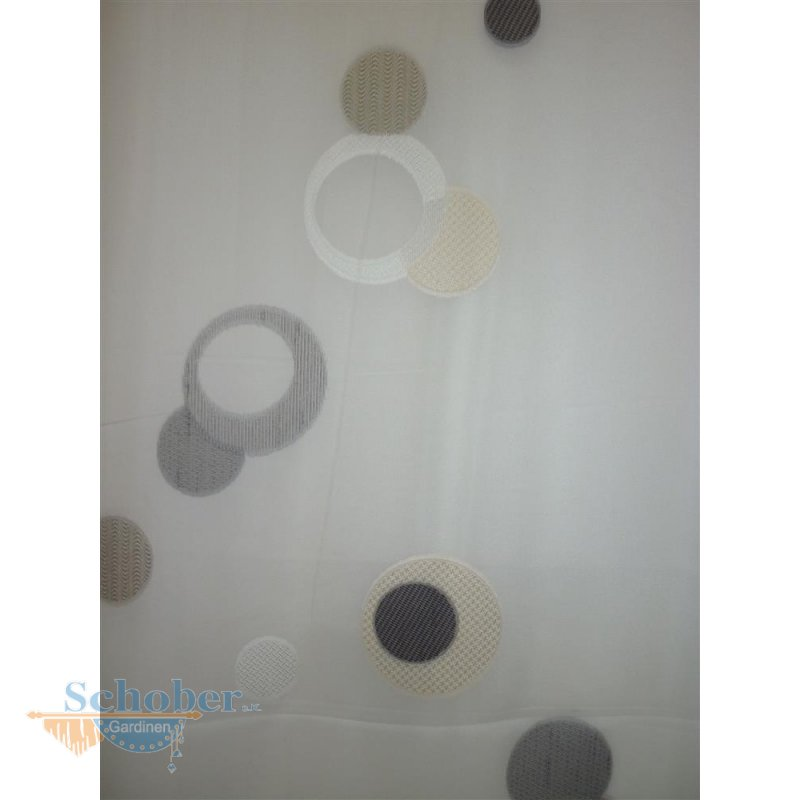 stores gardine stoff vorhang kreis natur anthrazit beige transparent. Black Bedroom Furniture Sets. Home Design Ideas