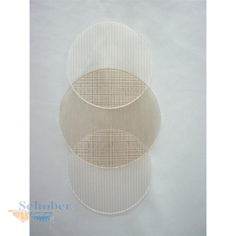 Stores gardine stoff vorhang kreise natur beige caramel transp rest - Gardine kreise ...