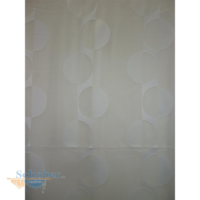 Stores gardine stoff vorhang kreise retro wei transparent met - Gardine kreise ...