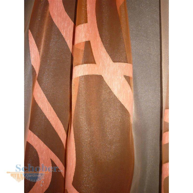 stores gardine stoff vorhang ranke orange apricot rot. Black Bedroom Furniture Sets. Home Design Ideas