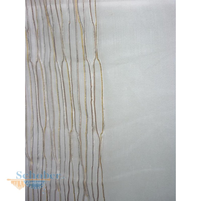 stores gardine stoff vorhang streifen beige braun gold transp rests. Black Bedroom Furniture Sets. Home Design Ideas