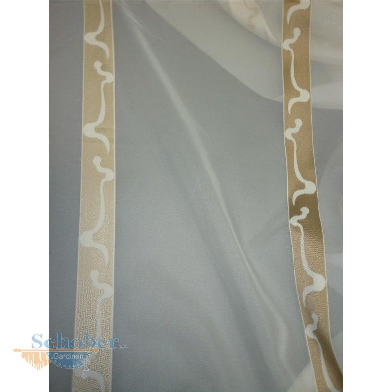 stores gardine stoff vorhang streifen creme gold anthrazit. Black Bedroom Furniture Sets. Home Design Ideas