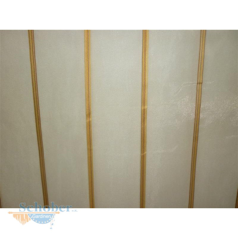 stores gardine stoff vorhang streifen gold transparent. Black Bedroom Furniture Sets. Home Design Ideas