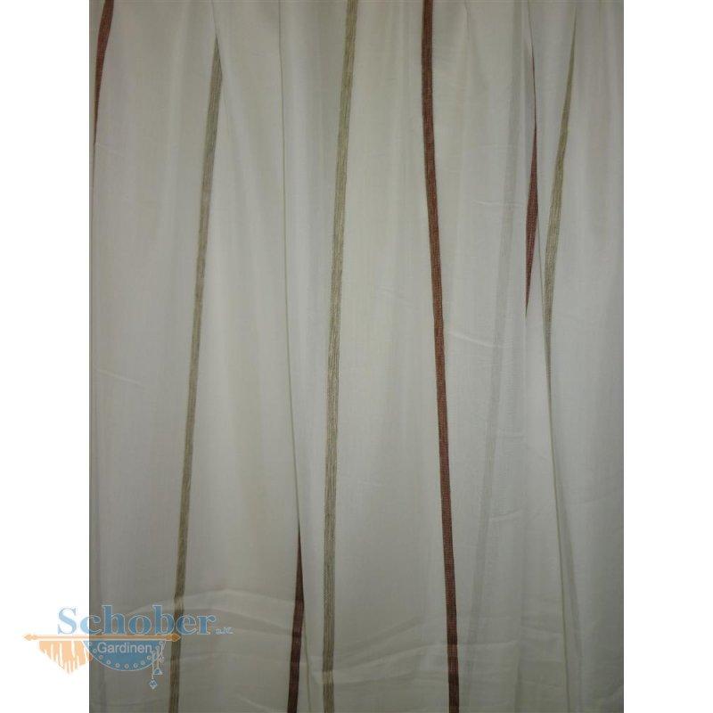 stores gardine stoff vorhang streifen natur rot beige transparent me. Black Bedroom Furniture Sets. Home Design Ideas