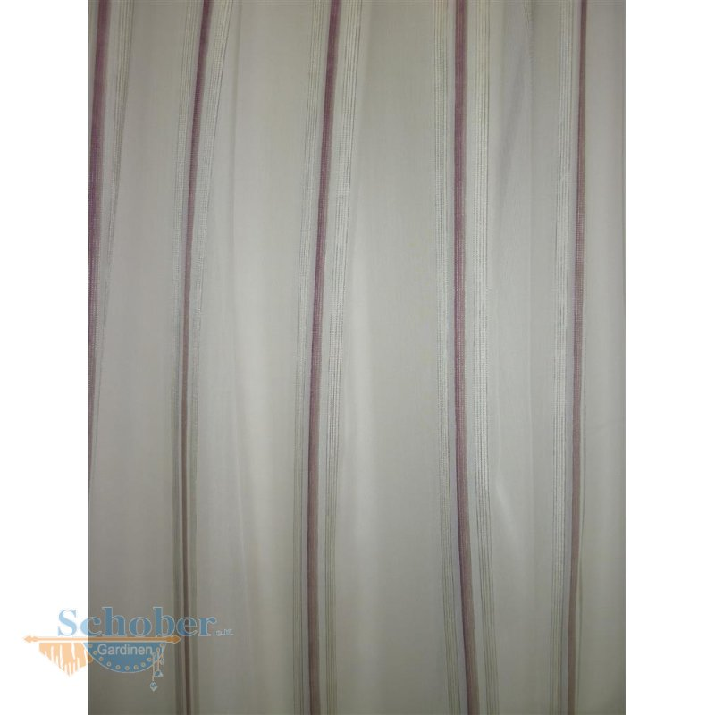 stores gardine stoff vorhang streifen wei beere transparent m. Black Bedroom Furniture Sets. Home Design Ideas