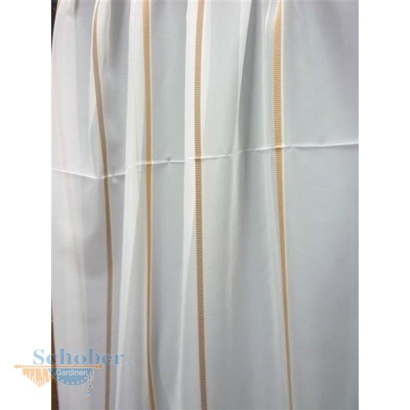 stores gardine stoff vorhang streifen wei beige braun. Black Bedroom Furniture Sets. Home Design Ideas
