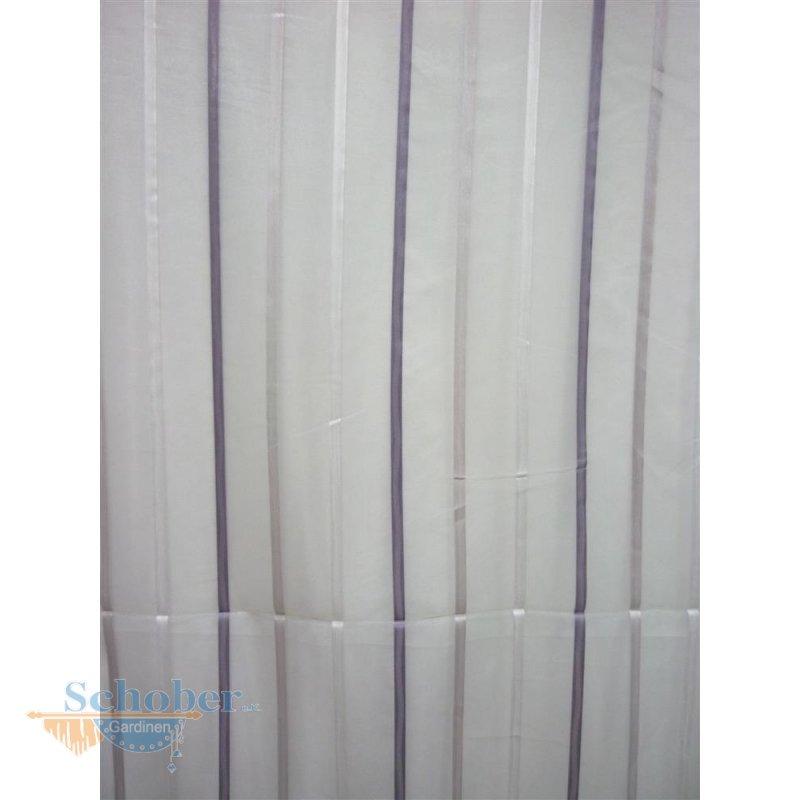 stores gardine vorhang streifen wei flieder grau transparent. Black Bedroom Furniture Sets. Home Design Ideas