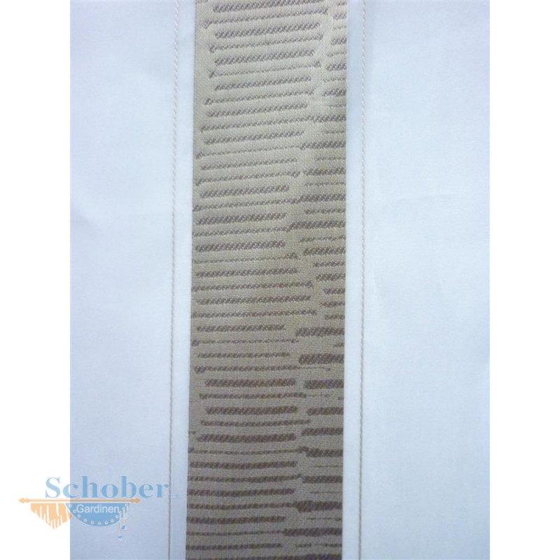 Stores Gardine Stoff Vorhang Streifen weiß gelb braun transpare