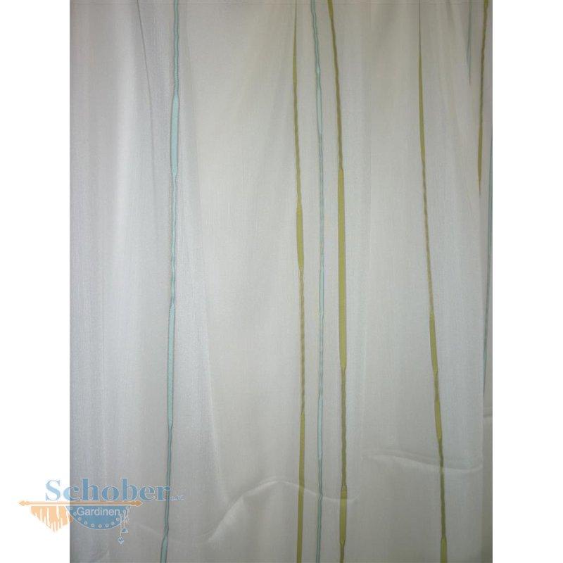 stores gardine stoff vorhang streifen wei gr n mint grau. Black Bedroom Furniture Sets. Home Design Ideas