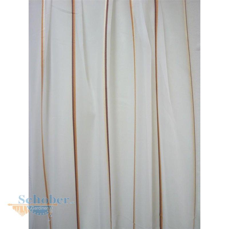 stores gardine stoff vorhang streifen wei rost braun transpare. Black Bedroom Furniture Sets. Home Design Ideas