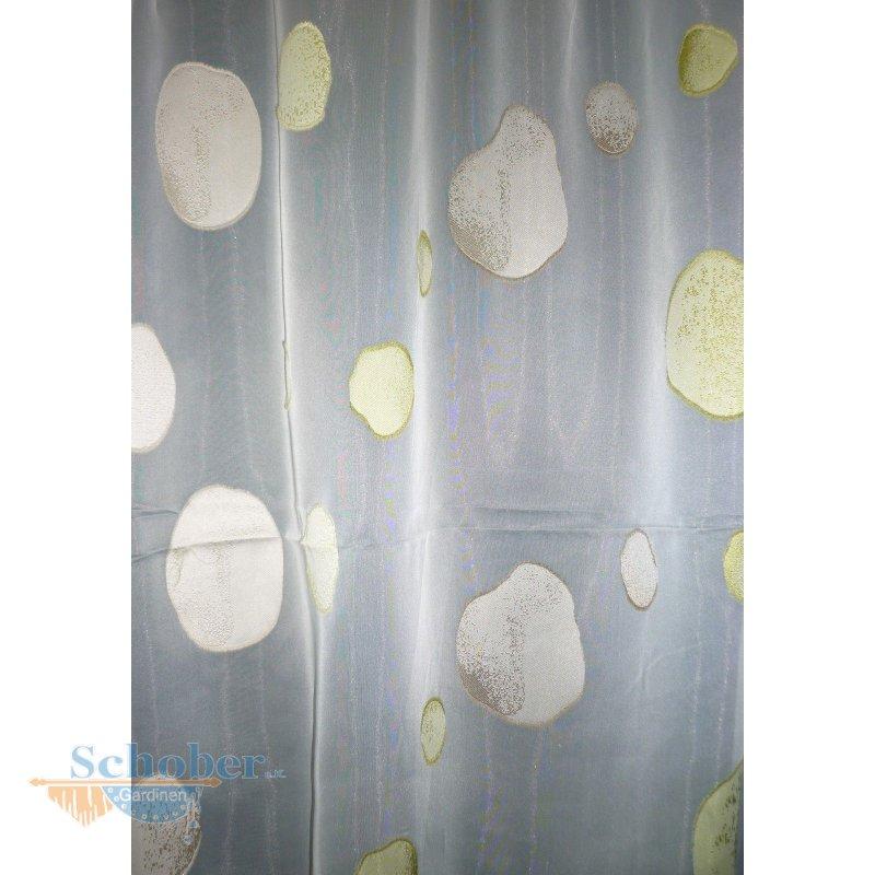 stores gardine stoff vorhang kreise wei gr n beige transp. Black Bedroom Furniture Sets. Home Design Ideas