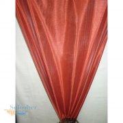 Deko Stoff Gardine Vorhang Querstreifen schlamm rot weiß halbtr
