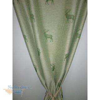 Vorhänge Landhaus deko stoff gardine vorhang landhaus hirsch grün blickdicht mete