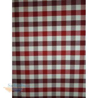 deko stoff gardine vorhang landhaus karo wei rot blickdicht m. Black Bedroom Furniture Sets. Home Design Ideas