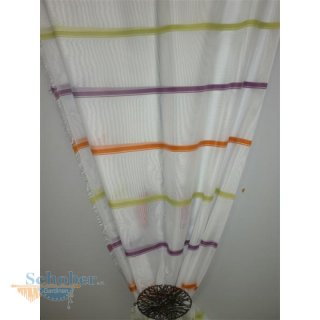 deko stoff gardine vorhang querstreifen gr n orange lila. Black Bedroom Furniture Sets. Home Design Ideas