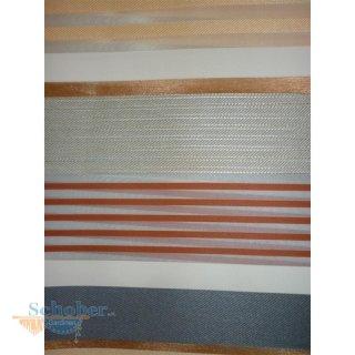 deko stoff gardine vorhang querstreifen wei orange grau. Black Bedroom Furniture Sets. Home Design Ideas