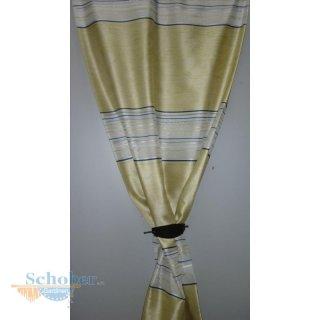 deko stoff gardine vorhang streifen blume gr n wei teiltr. Black Bedroom Furniture Sets. Home Design Ideas