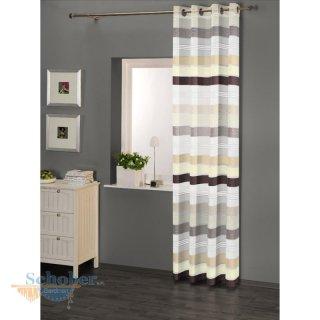 dekoschal senschal querstreifen m sen beige braun trans. Black Bedroom Furniture Sets. Home Design Ideas