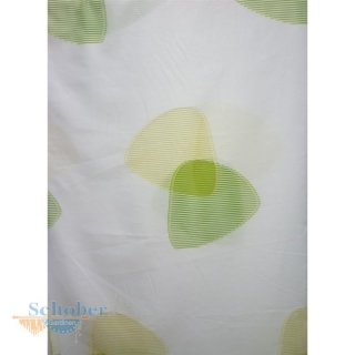dekostoff gardine vorhang dreiecke wei gr n gelb blickdic. Black Bedroom Furniture Sets. Home Design Ideas